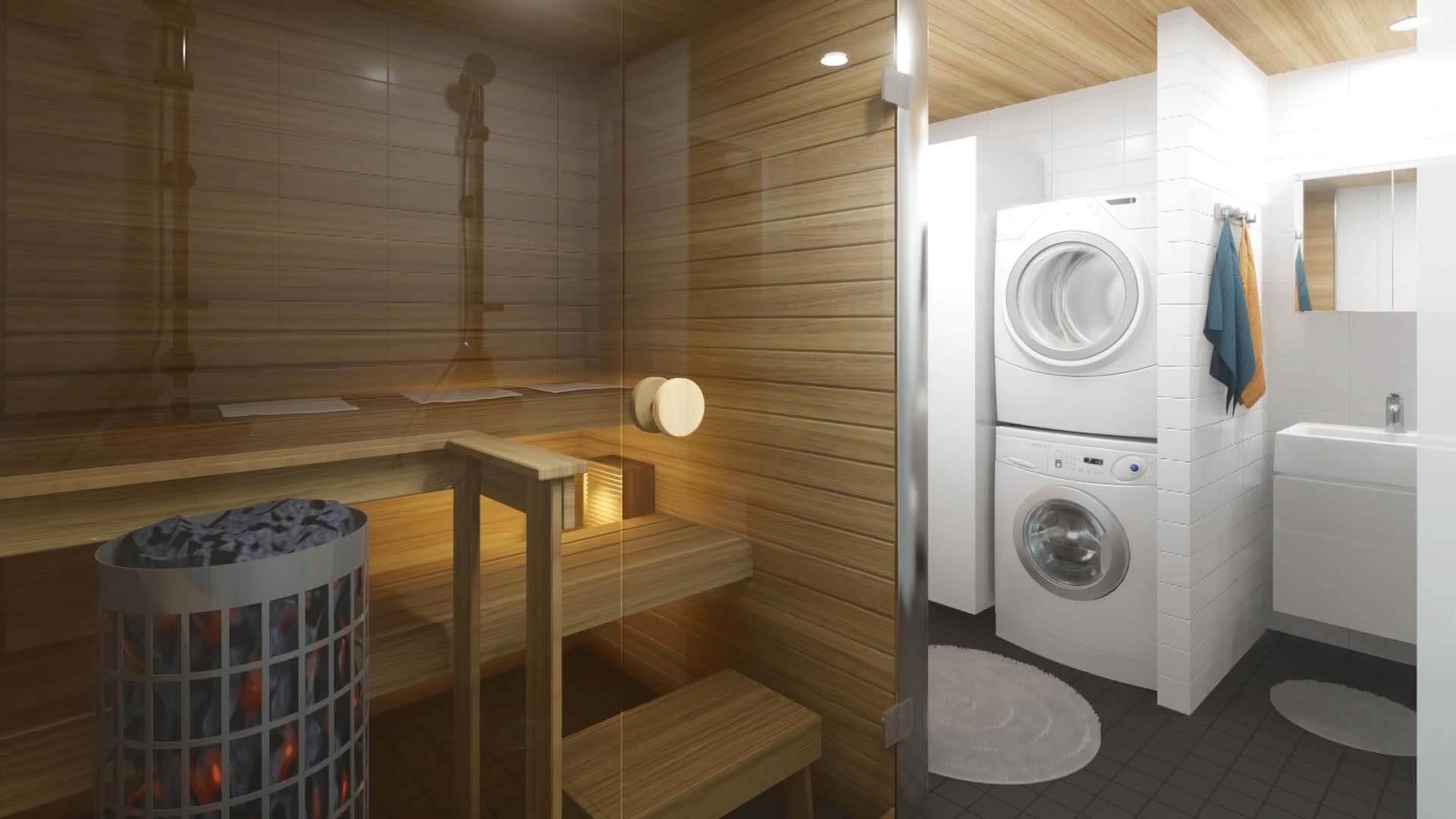 Kerttulantie 2 - kylpyhuone